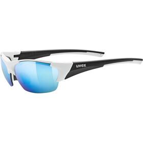 UVEX Blaze III Bril, white/black matt/mirror blue